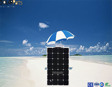 100W semi-flexible high efficiency back contact solar panel solar cell module kits system for RV marine outdoor charge LED light