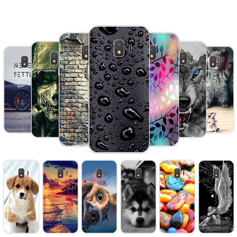 For Galaxy J2 Core Phone Cover Slim Transparent Soft TPU Silicone Cases For Samsung SM-J260F Coque Luxury Full Protector Shells
