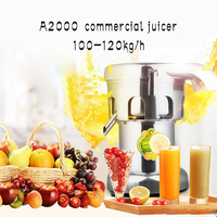 commercial juicer,commercial juice extractor,stainless steel fruit press, juice squeezer A2000 2800r/min 220v 550w 1pc