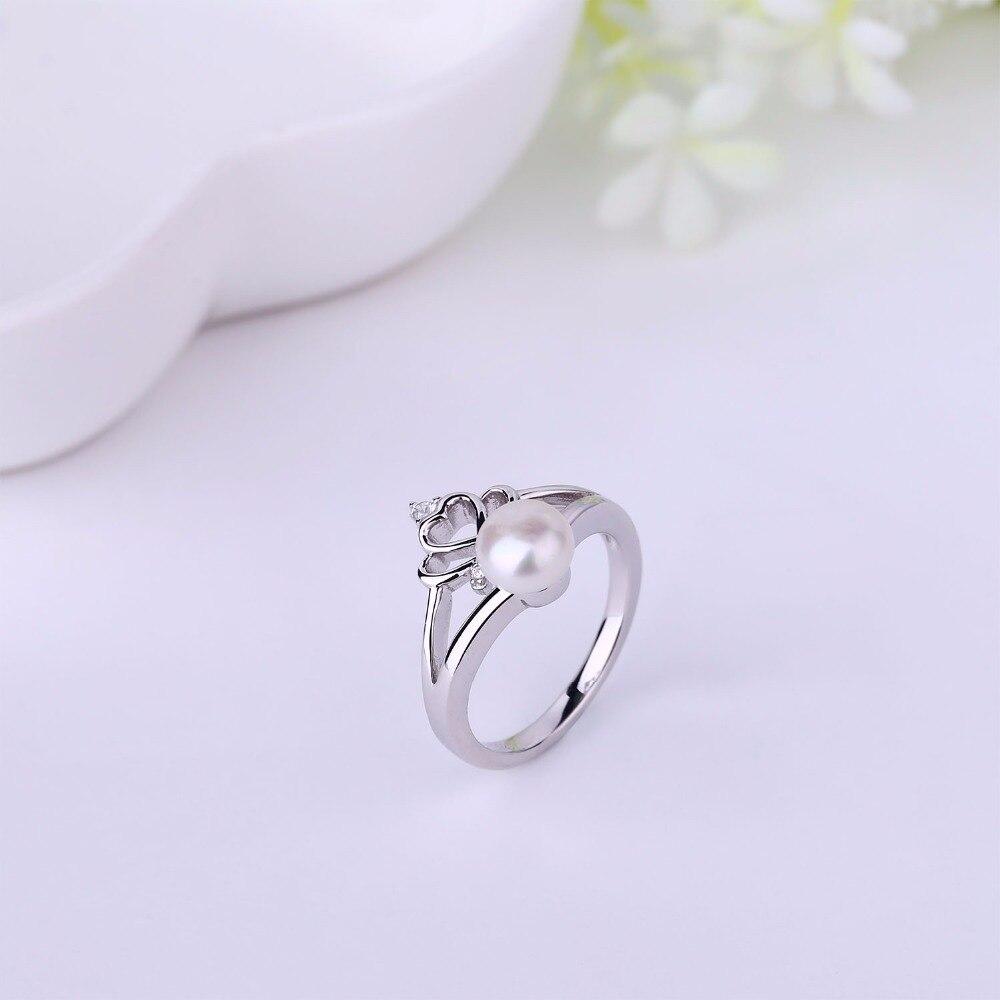be53ee4d01cb Jo sabiduría 100% 925 anillo de plata para las mujeres anillo de boda con  perlas de agua dulce para la boda Decoración en Anillos de Joyería y  accesorios en ...