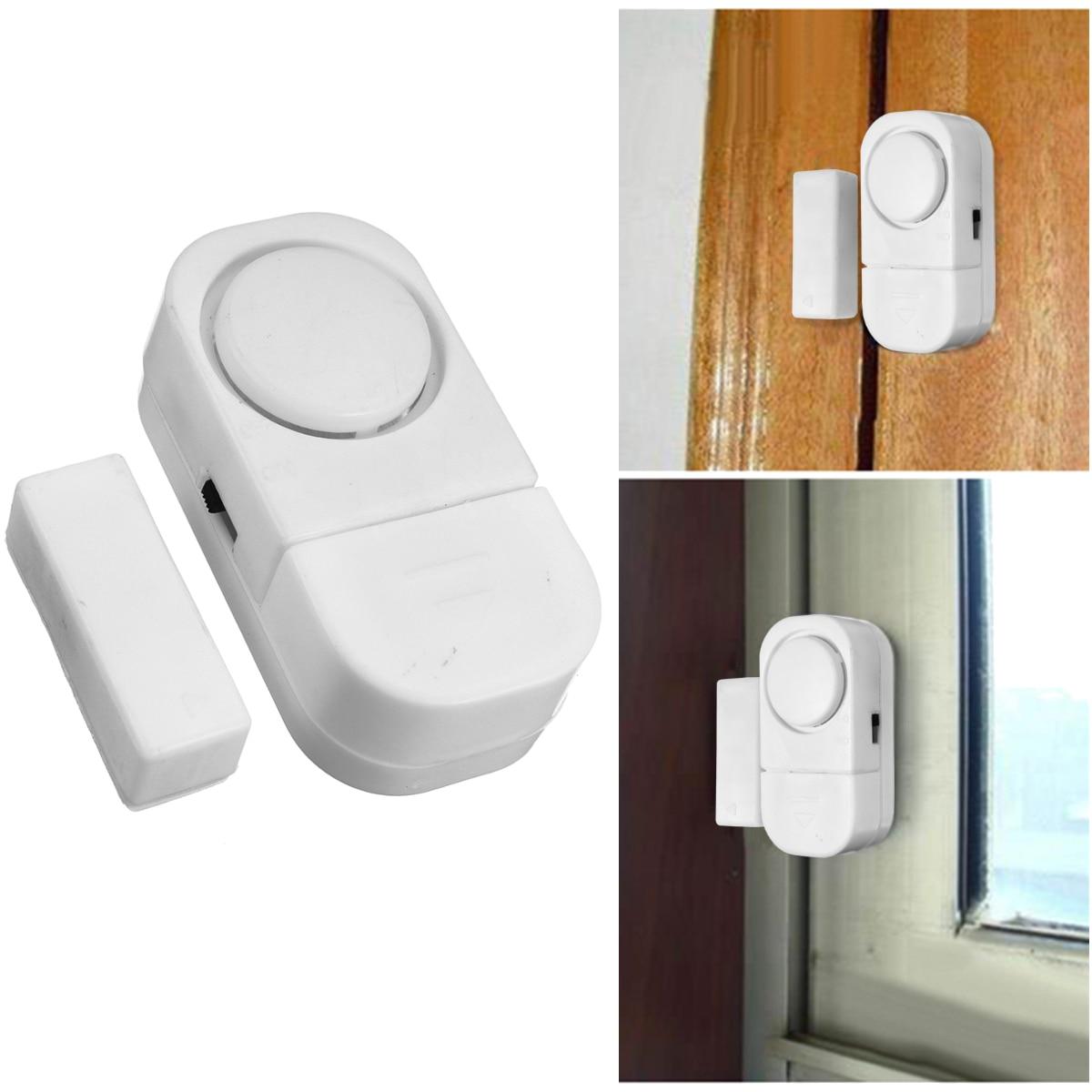 Magnetic Sensors Independent Wireless Home Window Door Entry Burglar Security Alarm System