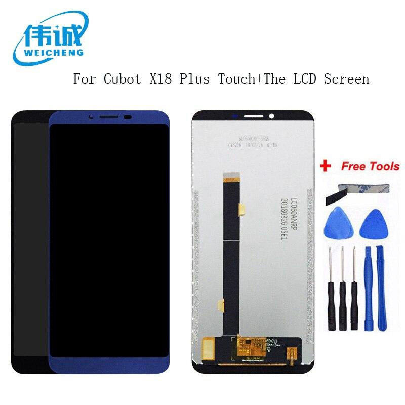 WEICHENG Pour 5.99 pouce Cubot X18 Plus Ecran LCD + Écran Tactile 100% Testé Écran Digitizer Assemblée Remplacement + Livraison outils