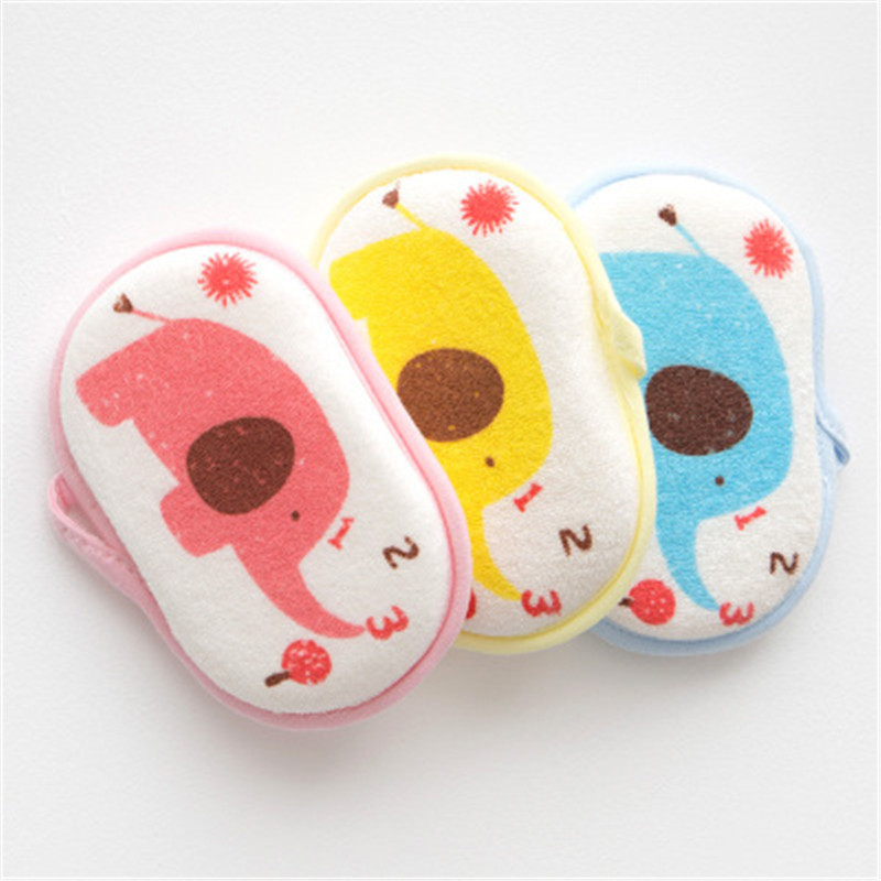 1pc Bath Brushes Shower Products Comfortable Soft Towel Accessories Infant <font><b>Children</b></font> Rub Baby Rubbing Body Wash Sponge Cotton image
