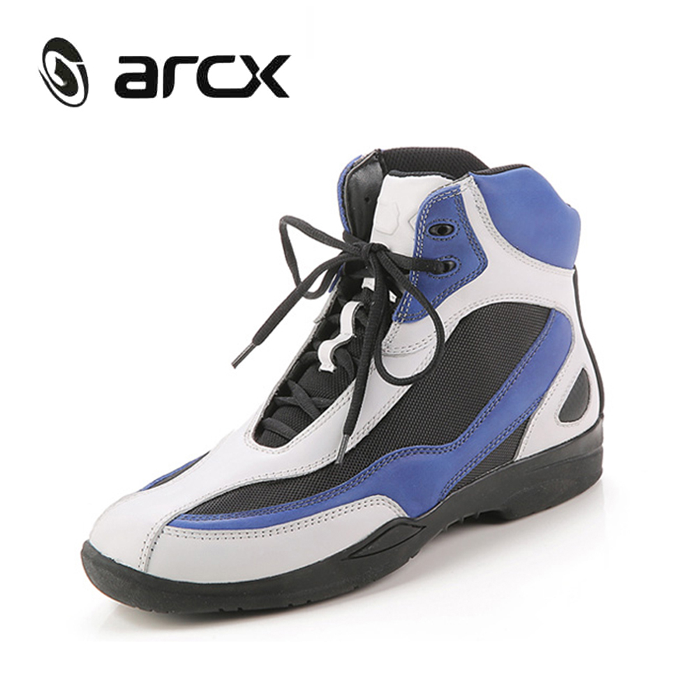 цена на ARCX Genuine Cow Leather Motorcycle Riding Shoes Street Moto Road Racing Motorbike Biker Chopper Cruiser Touring Ankle Boots