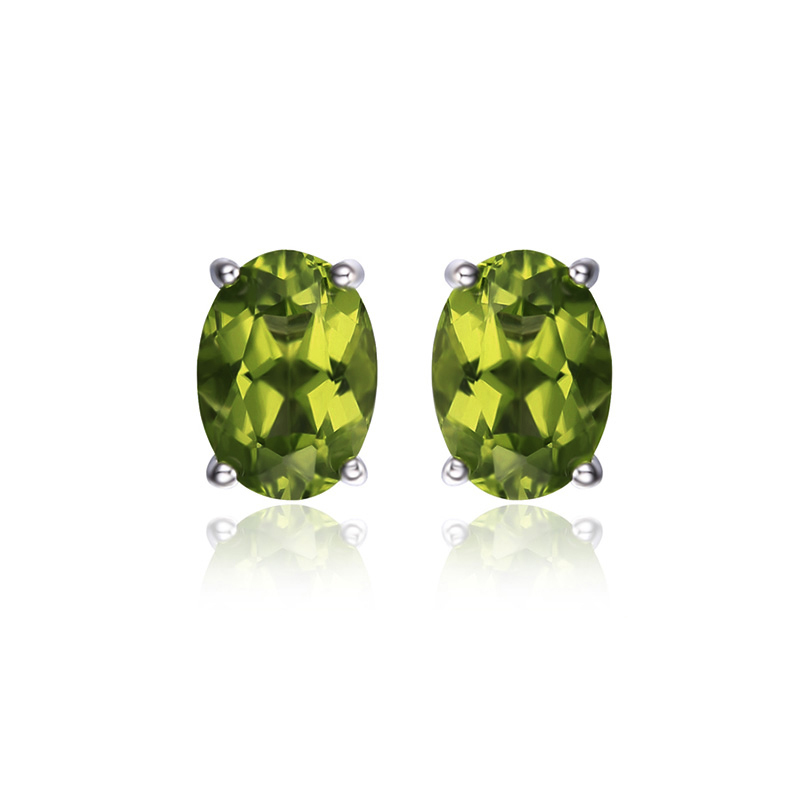 Genuine-925-Sterling-Silver-Earrings-Oval-Natural-Green-Peridot-Birthstone-Stud-Earrings-for-Women-Fine-Jewelry