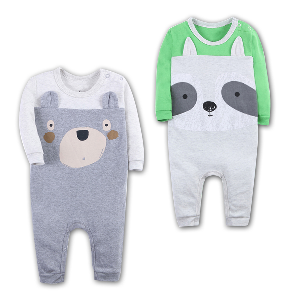 2pcs Newborn Baby Rompers 100% Cotton Long Sleeved Animal modelling Comfortable Baby Pajamas baby boy clothes Set Kid Jumpsuit