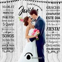 Allenjoy Foto Achtergrond Wit Hout Photocall Voor Bruiloften Fotografie Achtergronden Photocall Voor Een Fotoshoot Foto Booth