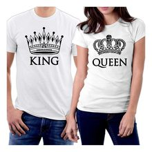 081d54bf7d Print T Shirt Mens Short Sleeve Hot picontshirt King and Queen Couple  T-Shirtss(