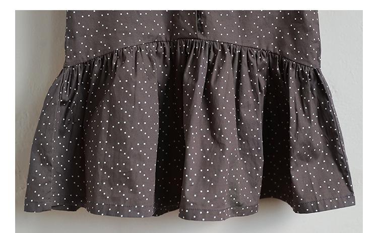 new fashion 2017 girl dress ruffles preppy style kids dresses for girls children school clothing dot short sleeve children dresses girls 2017 summer dresses kids clothes (2)