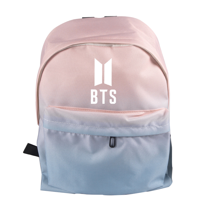 Popular BTS STAR Bulletproof Boy Scouts Backpack Canvas Pink Light Blue Bag  School Bag Shoulders Bag Teenagers Boys Girls Bags