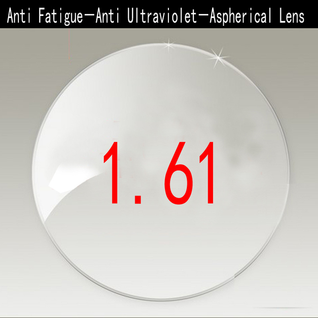 Anti Fatigue 1.61 Anti Ultraviolet Radiation Single Vision Lenses For Myopia / Hyperopia 1.61 Aspherical Lens