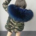Caliente 2016 a estrenar grande mapache natural abrigos de pieles reales de mujeres de la chaqueta de invierno las mujeres abrigo de invierno las mujeres parka Grueso forro de ucrania