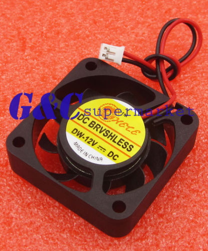 2Pin Cooler Fan 12V 40x40x10mm FOR Raspberry Pi Computer 3D Printer Black PC Cooling
