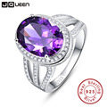10.2ct Natural Amethyst Fire Mystic Topaz Solid 925 Sterling Silver Ring Cocktail Vintage Jewelry Promotion Brand 2016 New