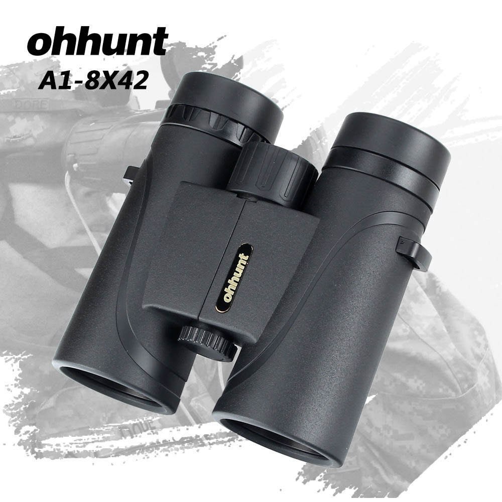 2ca2617d88 ohhunt A1-8X42 Binoculars Telescope Hunting Optics Bak4 Porro Prism  Waterproof Binocular with Dust Cover Hiking Outdoor Camping