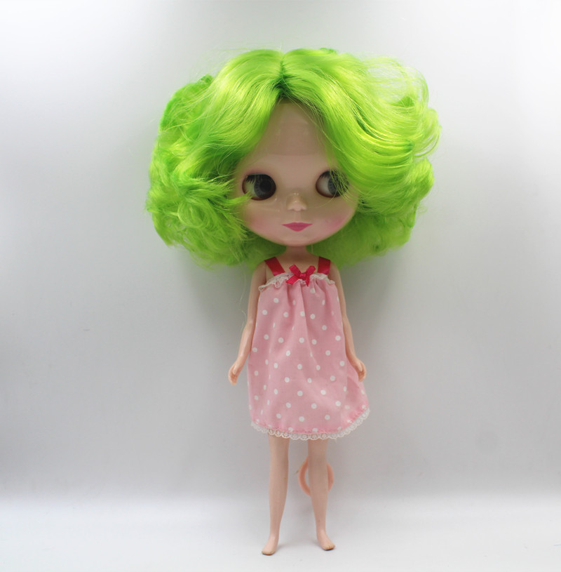 Special offer,Blyth doll,Gem green short hair, nude doll,7 joint body, general body, fashion doll,DIY doll. ...