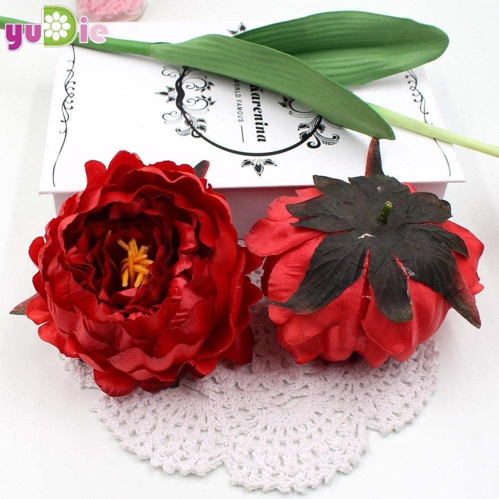 Big Size 1pcs Peony Flower Bouquet Palace Emperor Rose Silk Flower