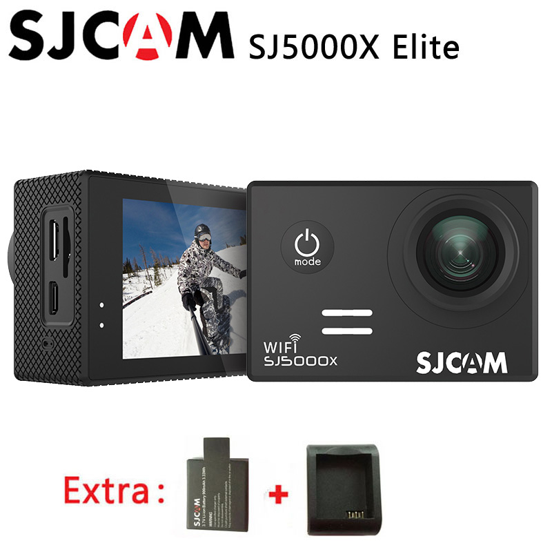 Original SJCAM SJ5000X Elite WiFi 4K 24fps HD Gyro 2.0 LCD NTK96660 Waterproof Sport Action Camera +Extra 1pcs battery+Charger