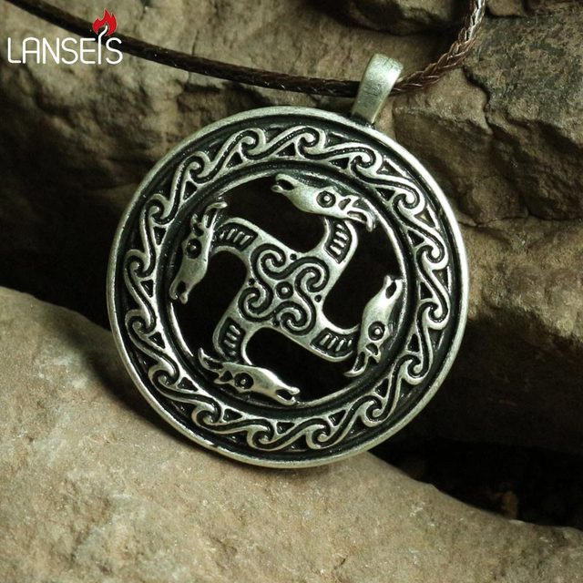 1pcs Fylfot Pferde Associated With The God Frey Ancient Sacred
