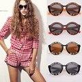 Marco de gafas de Sol UV 400 gafas de Sol de La Vendimia Mujeres Ronda letras Inglesas Lindo gafas de sol de la personalidad de la moda cruz mi corazón de 4 Colores 38