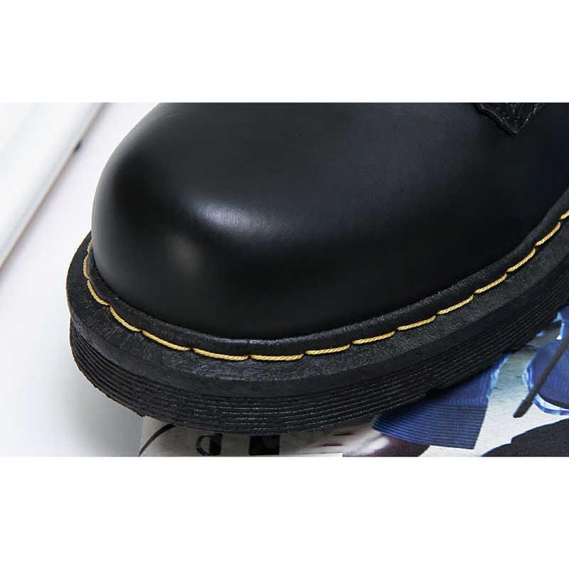 2019 nouvelles femmes bottes femme bottes d'hiver pour Martin bottes Dr bottines pour femmes chaussures d'hiver femmes chaussons grande taille 42 43