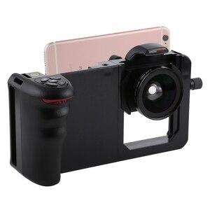 Image 1 - Universel 6.0 Smartphone stabilisateur plate forme poignée professionnel 0.45X Super grand Angle Macro objectif téléphone vidéo steeryam monture pour support