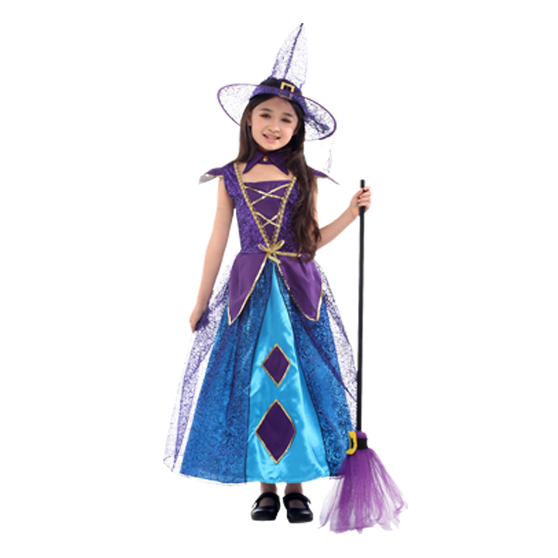 Halloween Costumes For Girls Scary.Halloween Costume For Kids Witch Costumes Girls Anime Cosplay Medieval Children Child Scary Vampire Carnival Party Fancy Dress In Girls Costumes From