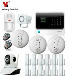 Yobang Security-GPRS WIFI GSM Alarm System Touch keypad APP controlled Home Secure Alarm Kits with IP camera,Door Close Reminder
