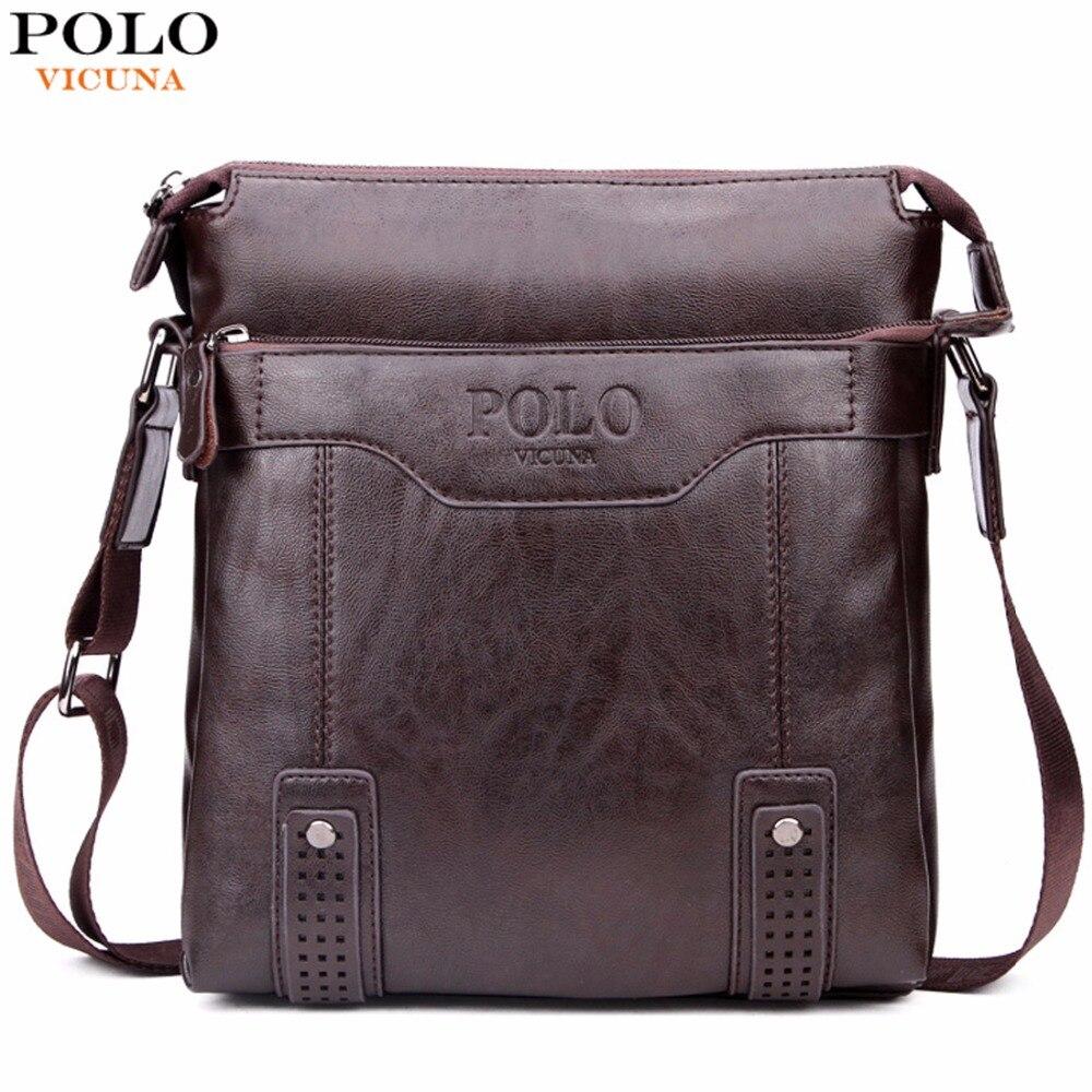 VICUNA font b POLO b font Vintage Hollow Out Messenger Bags For font b Men b