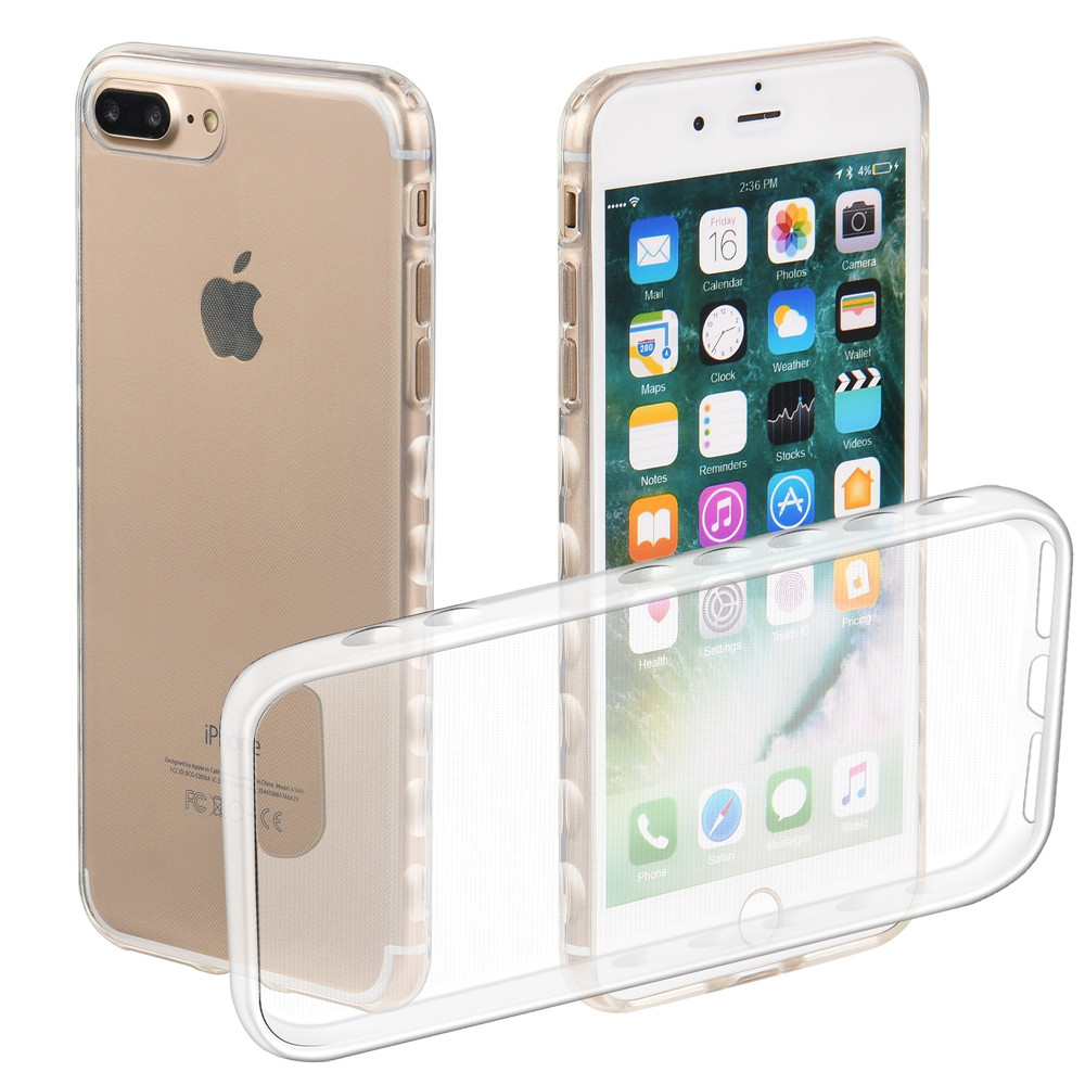 Non-slip Soft Cases For Apple iPhone7Plus iPhone 7 Plus 5.5 Transparent TPU Silicon Covers For iPhone 7Plus Full Housing Cases