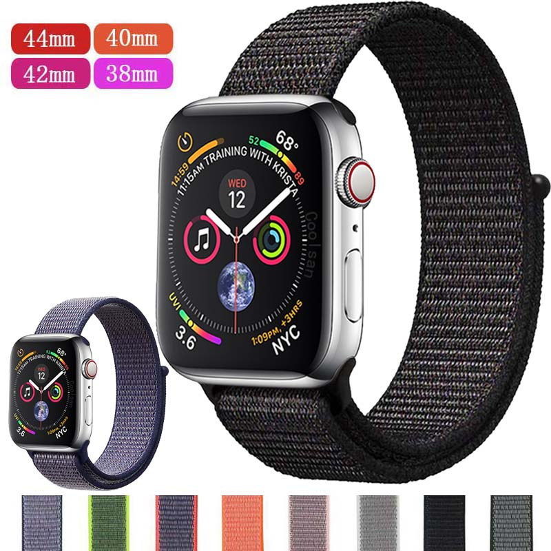 Nylon Strap For Apple Watch Band Series 5&4&3&2 44/40mm Breathable For IWatch Replacement Band Sport Loop Series 4 38mm 42mm
