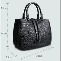 100% genuine crocodile skin leather women tote handbag/Cross Body/ Shoulder Bag, Crocodile Skin Women HandBag, free shipping