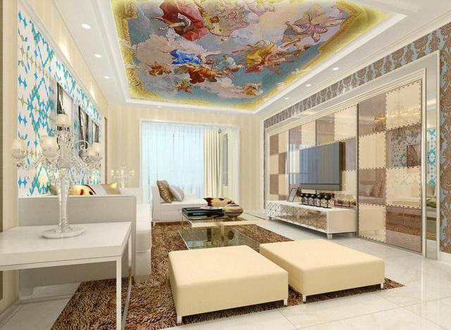 Beibehang Direct Flying Angel Ceiling Large Mural 3d Wallpaper For Walls 3  D Papel De Parede