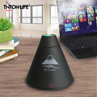 TINTONLIFE Creative Volcano Style USB Ultrasonic Humidifier With Colorful Led Light Essential Oil Aroma Diffuser Auto