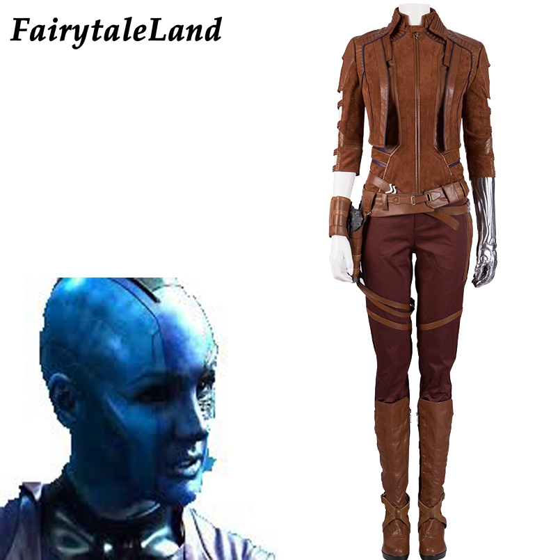 Avengers 4 Endgame Nebula Cosplay Costume Thanos daughter Nebula Costumes full outfit Avengers 4 customized with boots arm prop фото