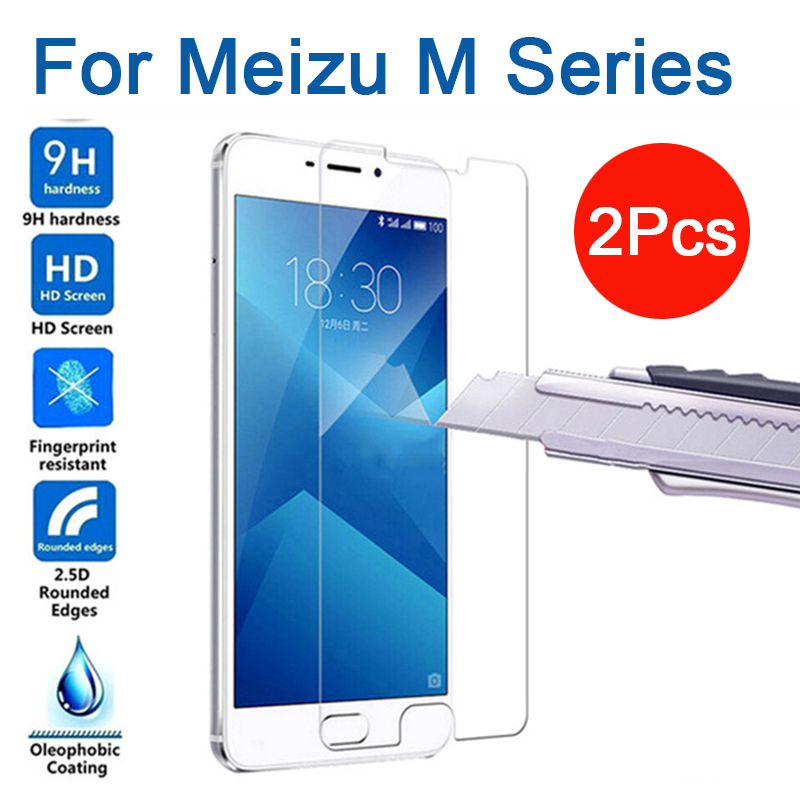 2pcs Tempered Glass for meizu m3 m5 m6 m8 m9 note Protective Glas Screen Protector on maisie m 3 5 6 8 9 Not glass safety film image