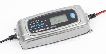 6v Battery Charger | FOXSUR 6V 12V Car Battery Charger With LCD Display, 11-stage Smart Battery Charger, Children Electric Car Toy 6V Battery Charger