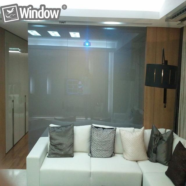Inteligente película de la ventana Se Aferran película PDLC conmutable privacidad Tintes 1Sqm
