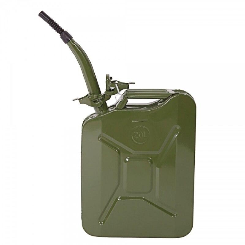 Réservoir de carburant en acier de bidon d'essence de bidon d'essence de 5 gallons 20L pour le stockage de carburant d'essence Diesel de pétrole Stock de secours militaire vert-US