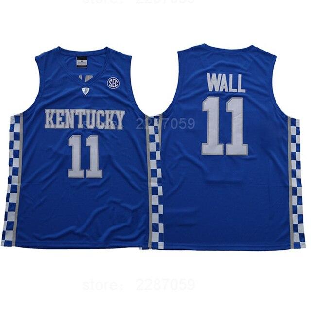 8ec9f12e7d1 ... new zealand ediwallen free shipping college 11 john wall jersey men  breathable kentucky wildcats wall basketball