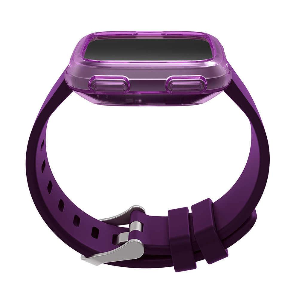 Nova Alta Qualidade TPU Fino Relógio Inteligente Tampa Da Caixa de Proteção para Fitbit Versa Proteção Relógio Quadro Acessórios Smartwatch