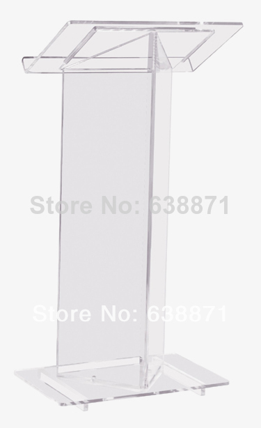 Free Shiping Luxury Acrylic Lectern, Perspex Podium, Plexiglass Church Pulpit