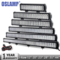 "Oslamp 12"" 20"" 23"" 28"" 31"" 44"" 3-Row LED Light Bar Offroad CREE Chips Combo Led Work Light 12v 24v Truck SUV ATV 4WD 4x4 Led Bar"