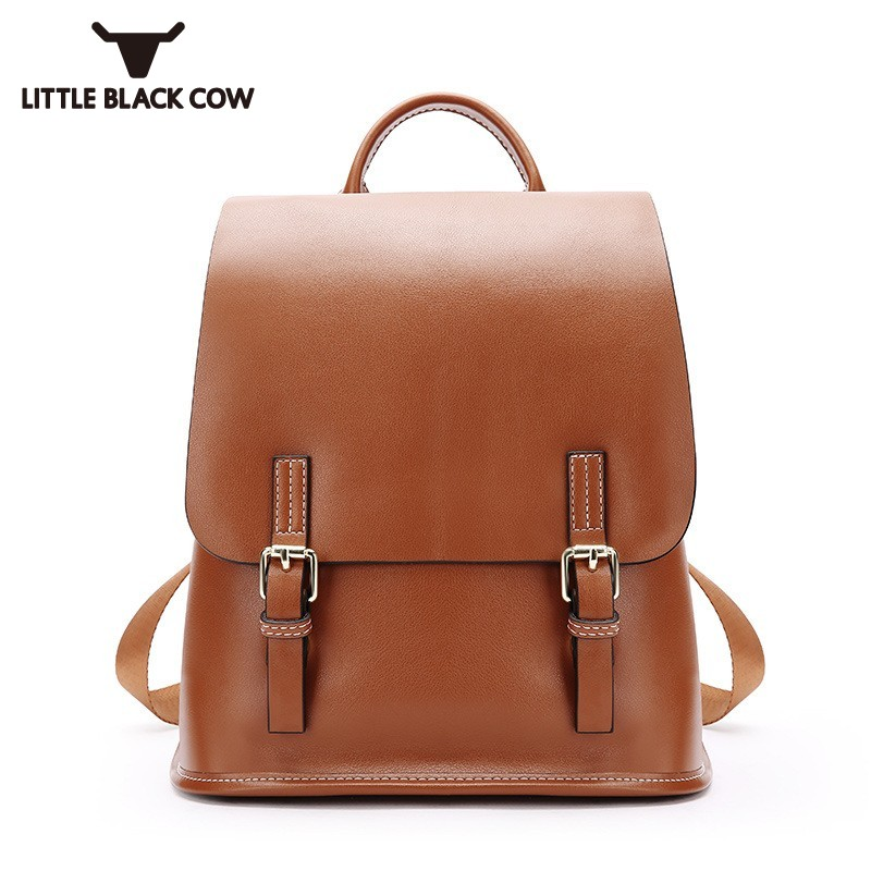 2018 New Brand Cover Backpack Female Large Capacity College Style Bag Korean Solid Black Brown Travel Backpacks Women Dual-Use genuine leather men casual shoes wool fur warm winter shoes for men flat lace up casual shoes men s flat with shoes fashion