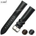 18 20 22 24mm Fashion Men's Black Watchbands Genuine Bands Leather Men Women Watch Band Strap Belt Metal Buckles TG106