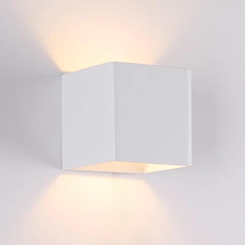 Livraison Gratuite 5 w 10*10 cm 4000 k Blanc Led Mur Lampe Led Mur Spot Light
