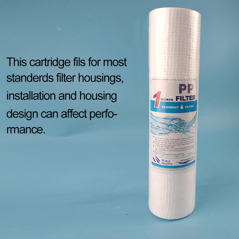 """Фильтр для воды осадочный полипропиленовый фильтр 10 """"1 микрон PP замена фильтра картридж обратного осмоса ржавчины удаление частиц"""