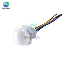 Mini PIR Sensor Detector Smart Switch 85V 220V LED PIR Infrared Motion Sensor Detection Automatic Sensor Light Switch