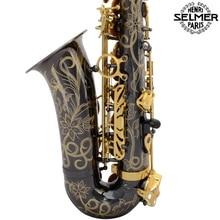 Marca Nueva Francia Selmer Saxofón alto 803 Profesional Negro Níquel Oro Sax boquilla Con Caja y Accesorios
