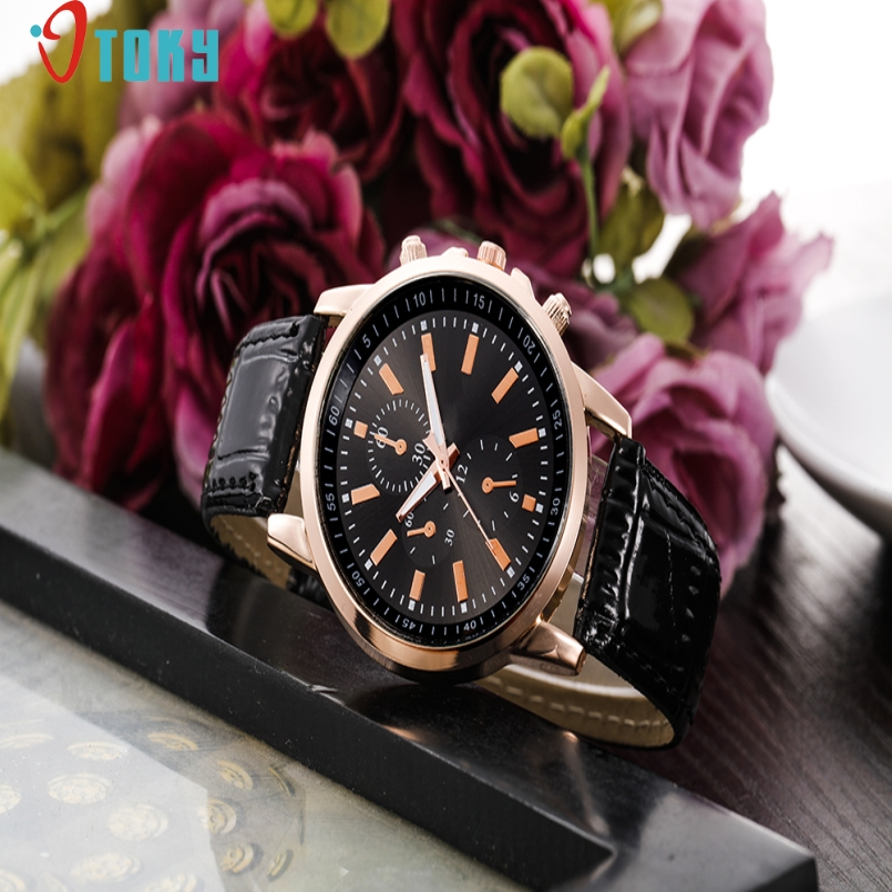 Excellent Quality OTOKY Luxury Brand Men Quartz Watches Dial Quartz Wrist Dress Mens Leather Strap Watches Relogio Masculino
